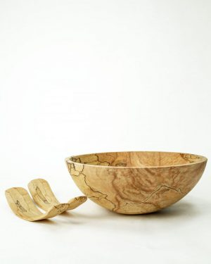 classic round spalted maple bowls