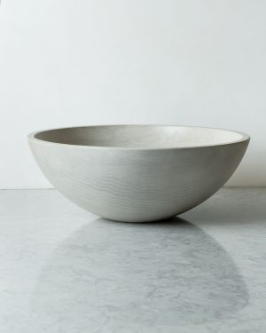 classic round white pearl bowls