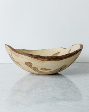 live edge ambrosia maple oval bowls