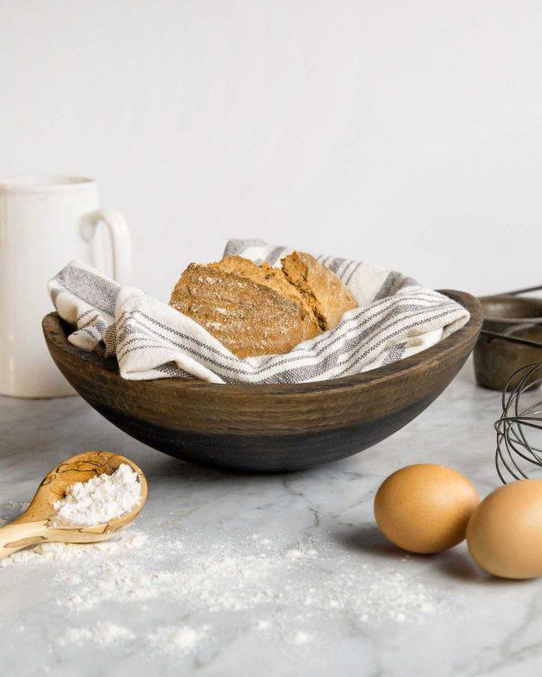 live edge black ebonized oval bowls