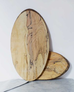 live edge oval boards